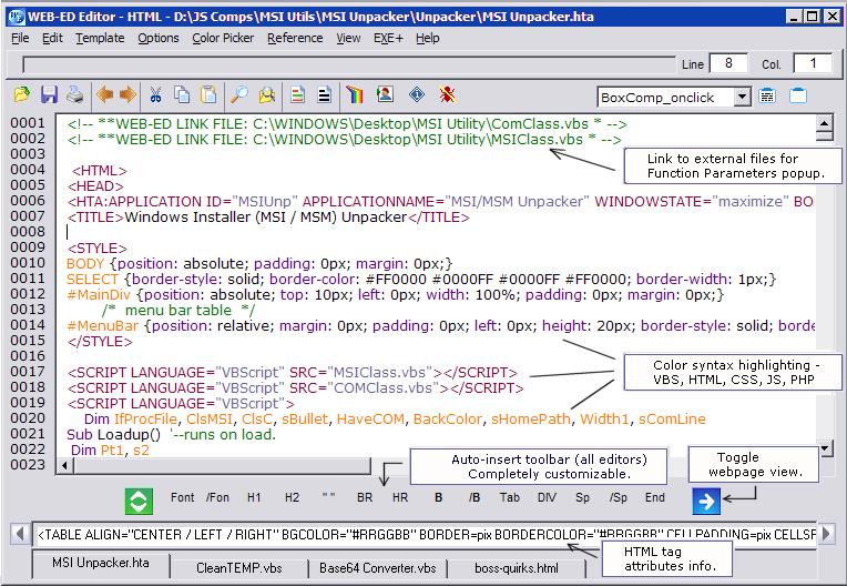 vbscript editor